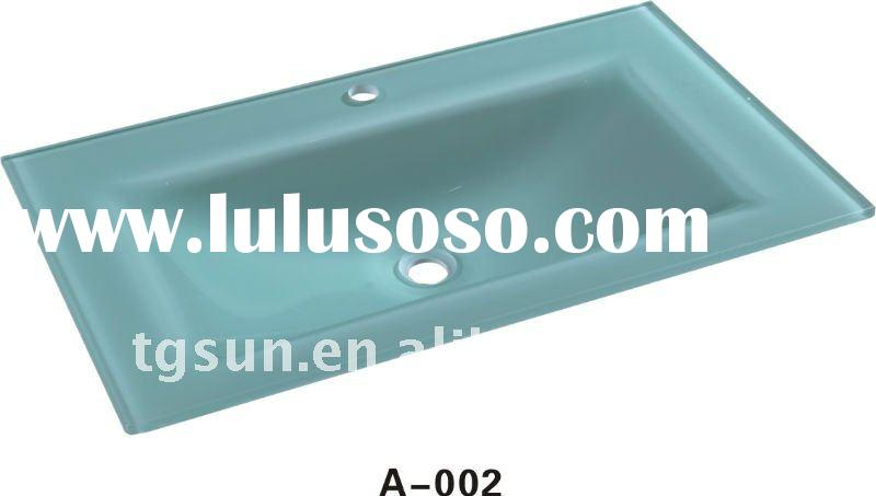 Tempered Glass Vanity Top A002