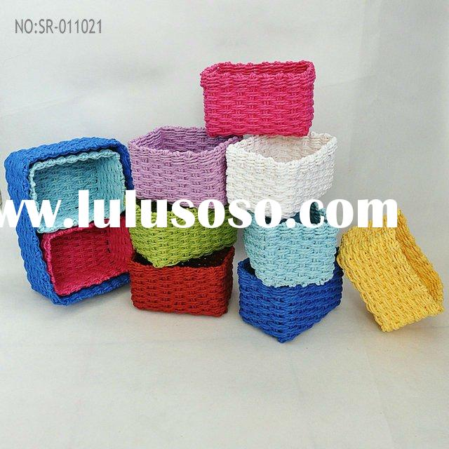 colorful and cheap paper storage basket