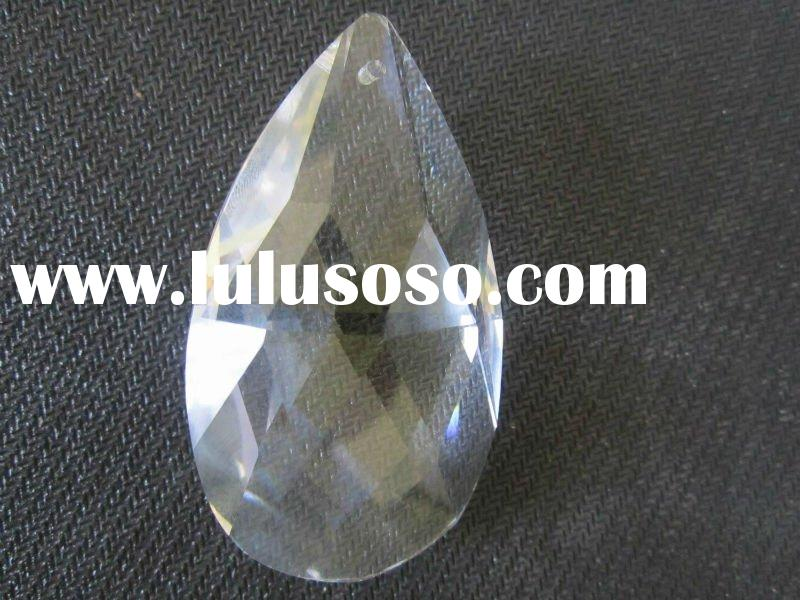 faceted drop crystal galss bead
