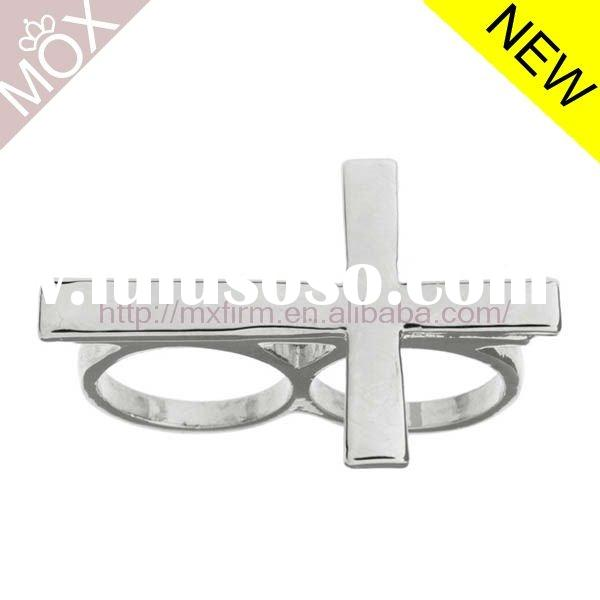 fashion cross double ring finger wholesale direct factory supply