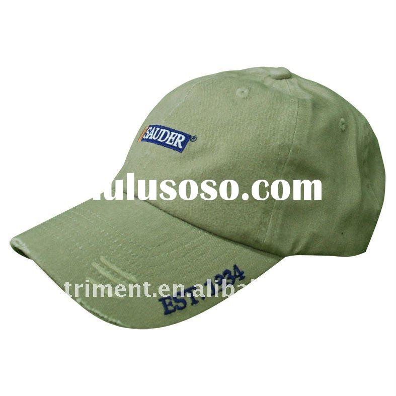 pigment dyed washed cotton twill baseball cap
