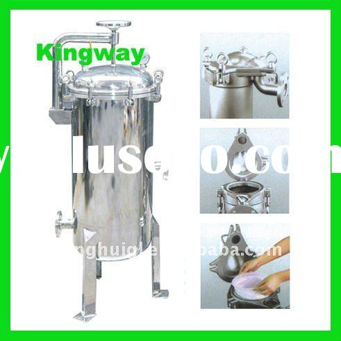 single and multi stainless steel bag filter housing vessel