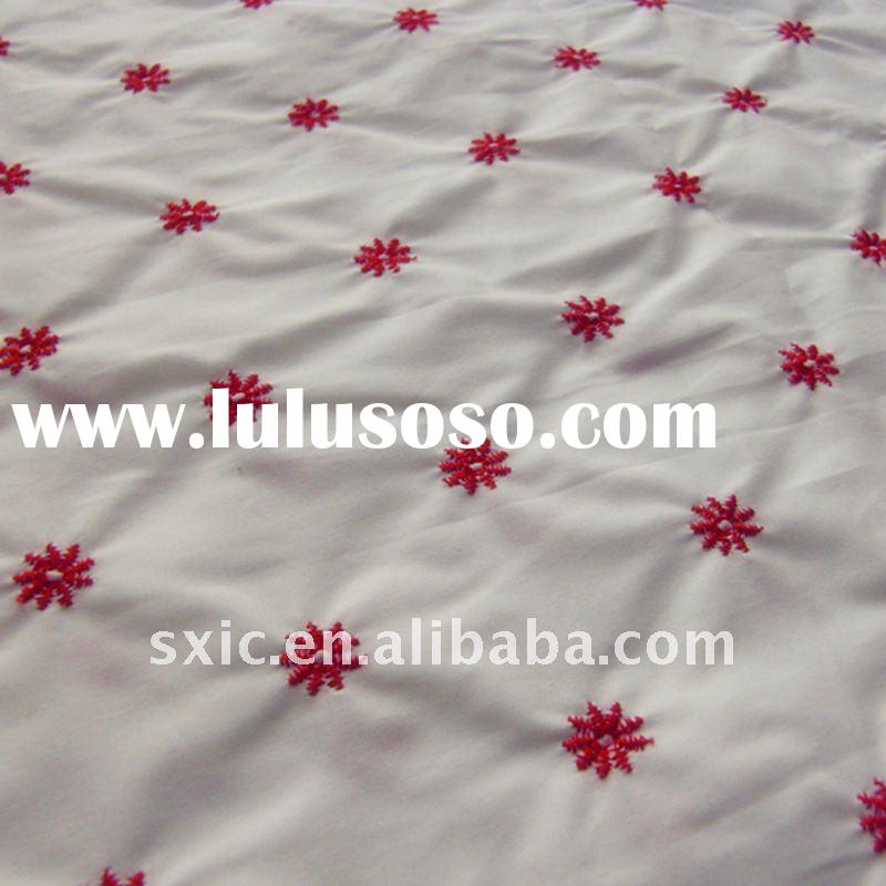 100% cotton floral embroidery fabric/cotton embroidery fabric/poplin fabric/embroidered fabric