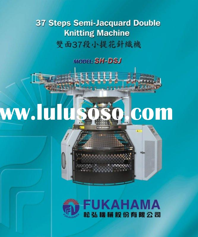 37 Step Semi-Jacquard Double Circular Knitting Machine