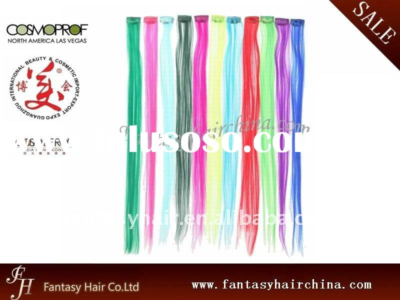 Cheap Synthetic Colorful Instant Clip-in Hair Extensions