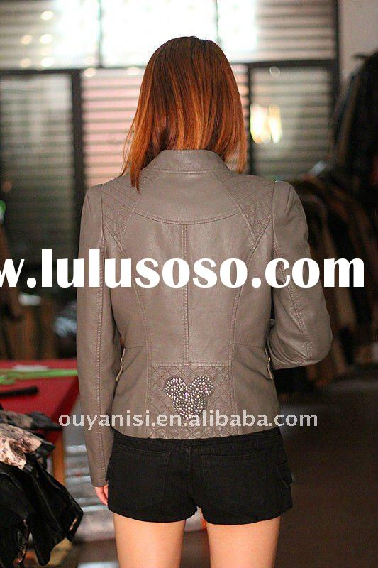 hot selling ladies leather clothing, ladies leather jackets, ladies leather garmnets