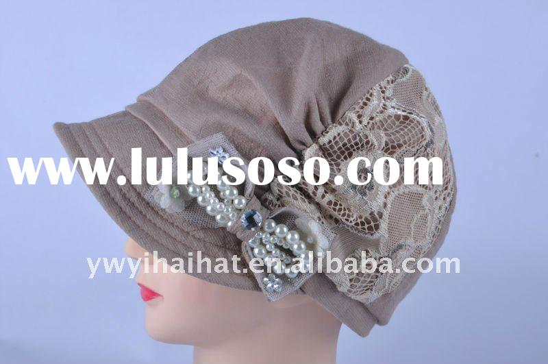 fashion winter hat with bow