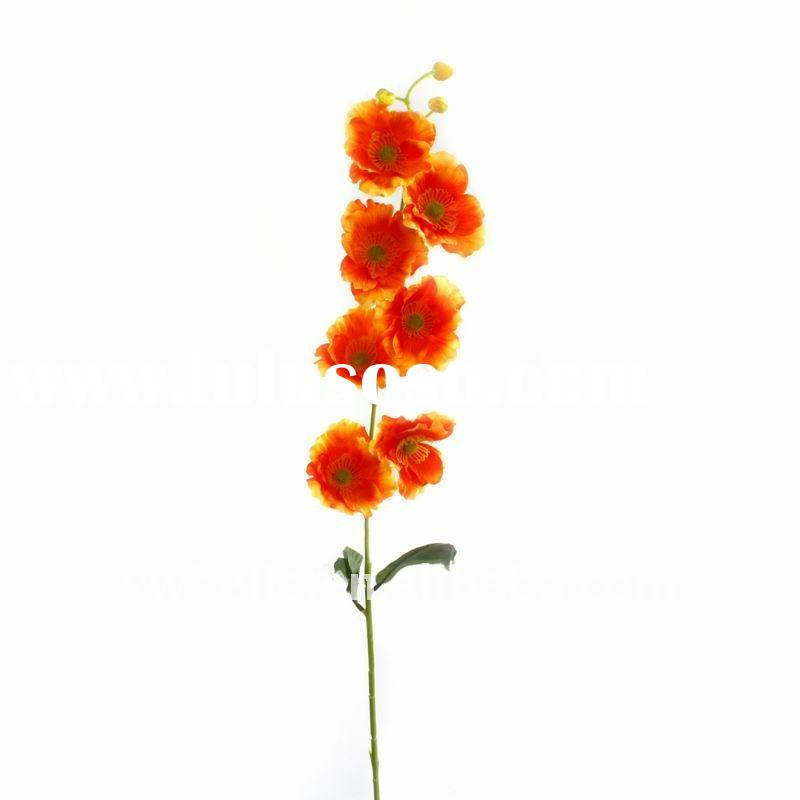 single opium poppy artificial flower bouquet