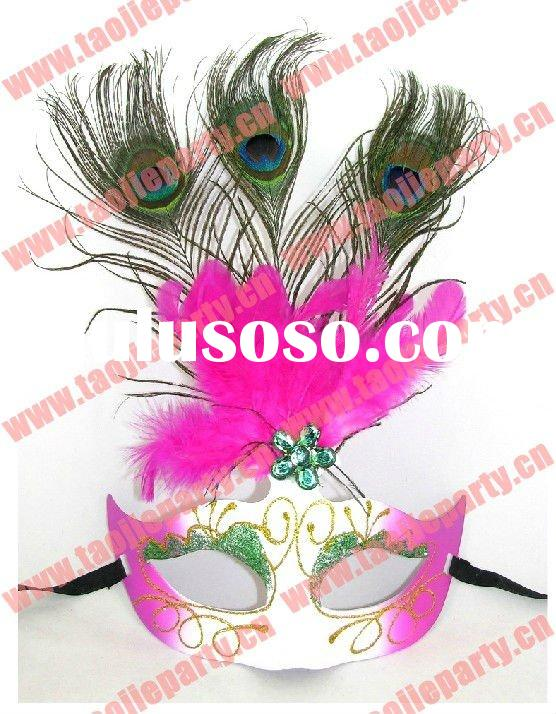 2011 Newly style masquerade feather masks