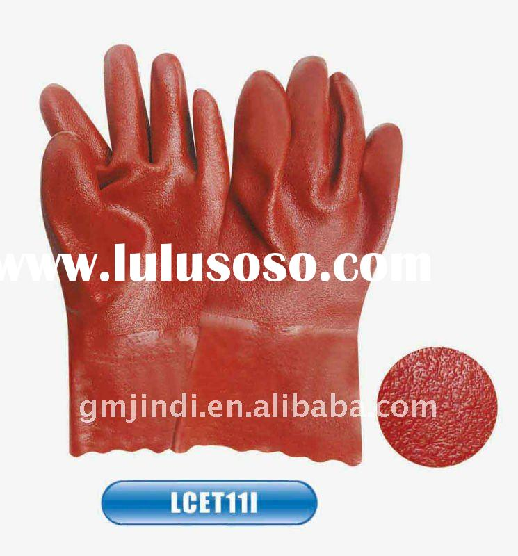 28CM Grown Etch Finished Pvc Coated Gloves