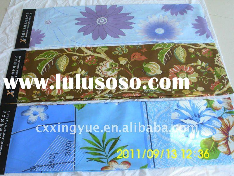 Bule printing flowers fabric for bedding make you feel like in the sky