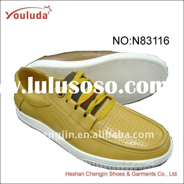 Hot sale latest man leather casual shoe N83116