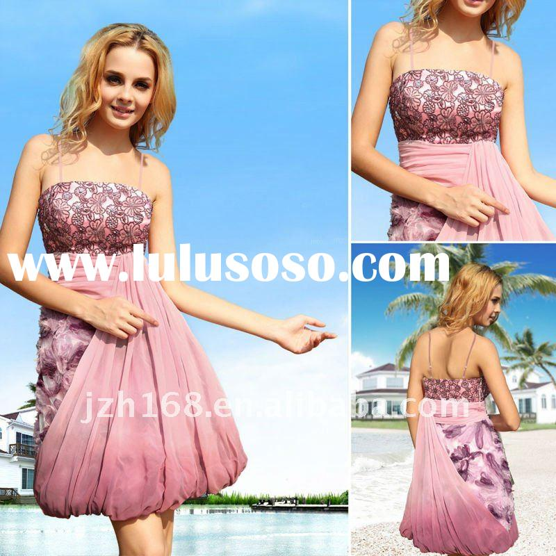 JUN&HUA 2012 high class short elegant beach style star evening dress Doris 82607