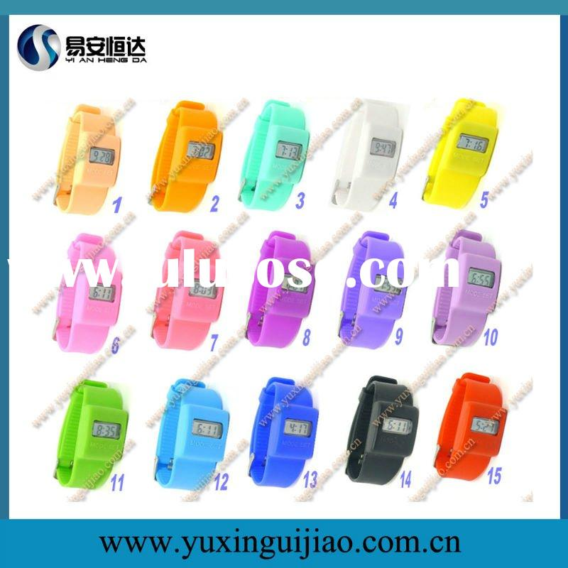 New Arrival Wristband Digital Silicone Watch in 15 Colors