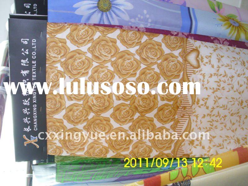 Small flowers design printing brushed bedsheet fabric