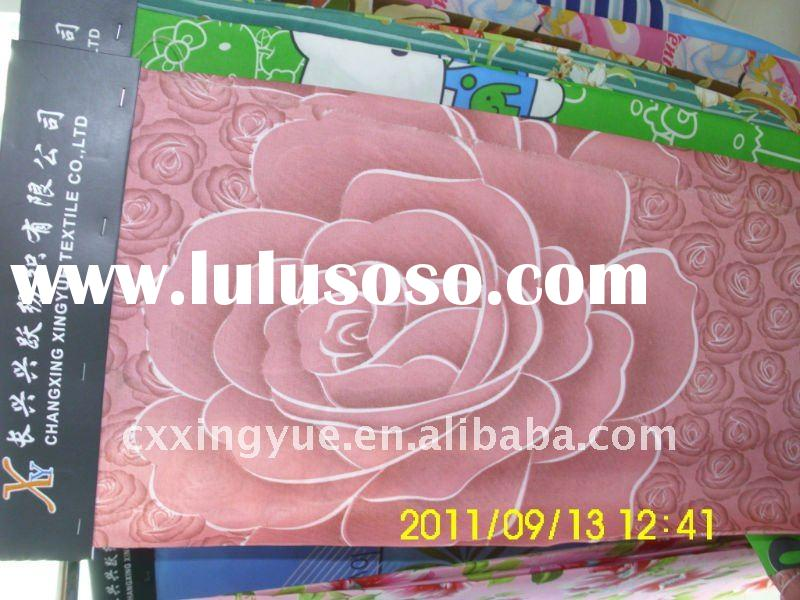 The most beautiful big flowers printing brushed fabric for bedsheet