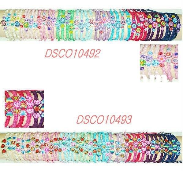 spring flower fashion tendy handmade  weave adjustable multi-coloured bracelet&wristband
