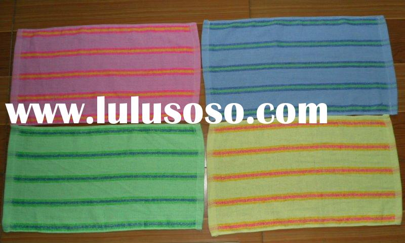yarn dyed terry face towel