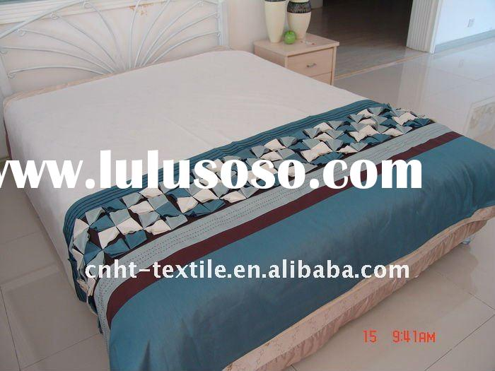 3 pcs hand-embroidery and patchwork bedding