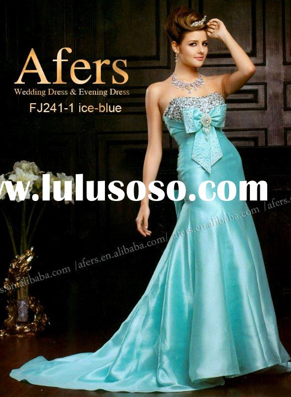 Afers item NO.FJ241-1 satin nobler party dress