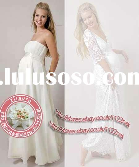 High quality RUCHED WAIST BAND AND TOP PREGENANT WOMAN maternity evening dress bridesmai dress prom
