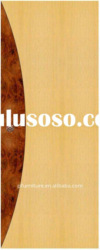 Natural Veneered Wooden Flush Door Design Mdf Living Room: Luxury (PFD105) Hotel Lobby Console For Sale