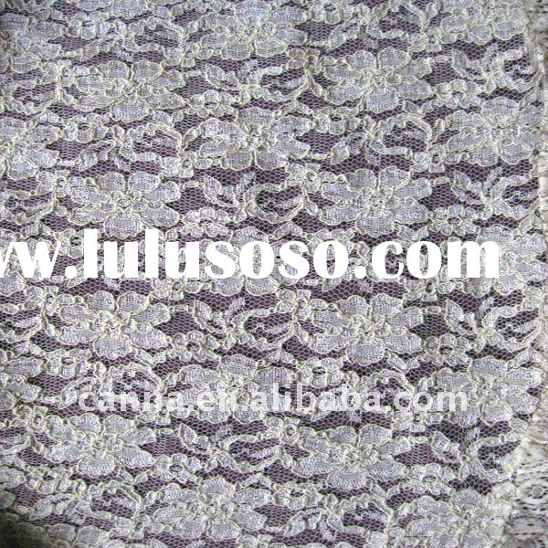 Jacquard cotton lace fabric