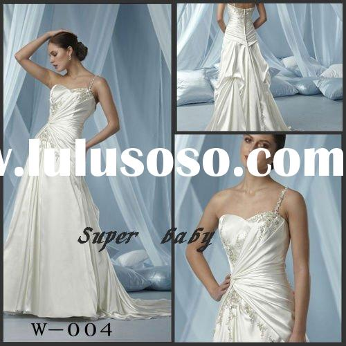 Latest fashionable design super baby W-004 wedding dress