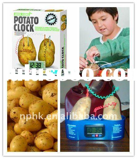 Potato clock/potato table clock/fruit clock/water clock/wholesale