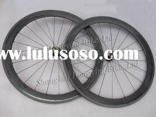 carbon bicycle wheel 50mm clincher wheelset 3k gloss