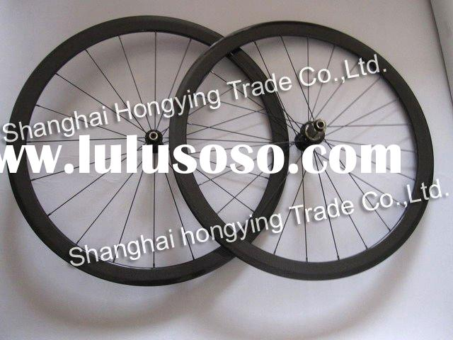 carbon fiber bicycle wheel 38mm clincher road bike wheel of light weight