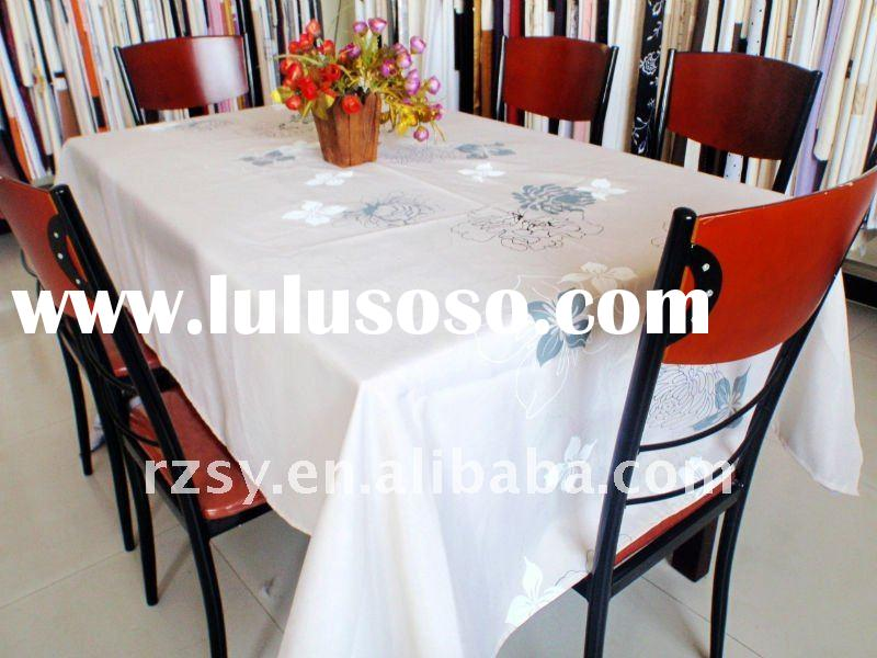 100%polyester printed  table cloth
