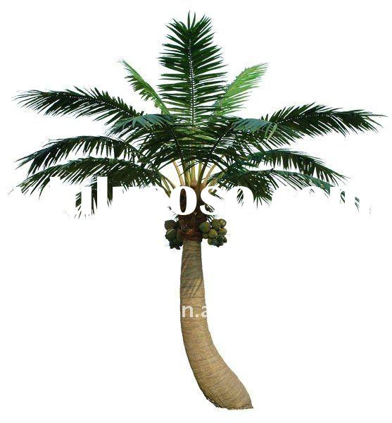 Artificial bend coconut tree