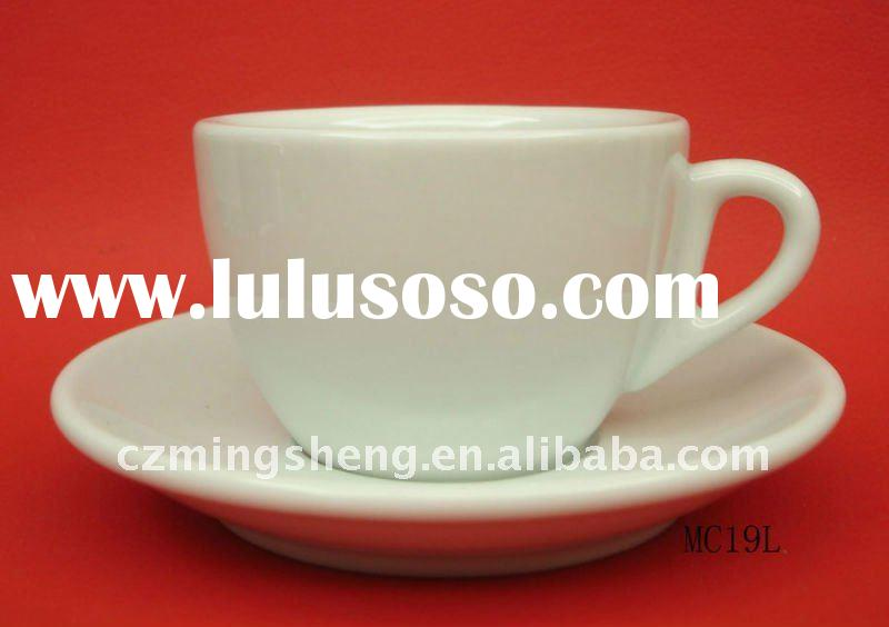 Professional coffee cup, Coffee shop ,Coffee cup with saucer,80cc espresso cup saucer,Porcelain coff