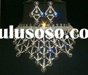 fahsion banquet colorful jewelry set  elegant fashion jewelry
