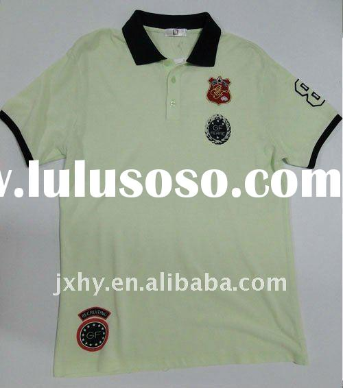 100% cotton men's polo shirts  of best sale for embroidered logo