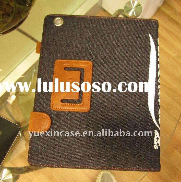 New Product jeans cloths Good Quality for iPad 2 case in hot selling