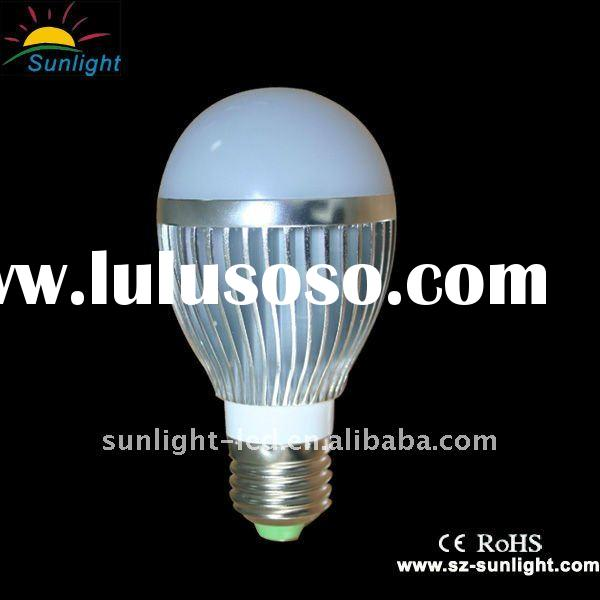Wide voltage pure white light 5w led bulb