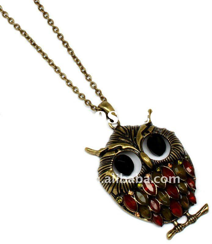 owl pendant fashion necklace