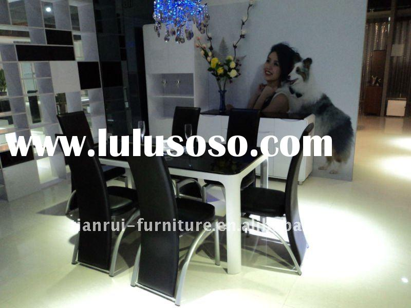 2011 new modern glass top dining table home furniture dining room furniture T9001