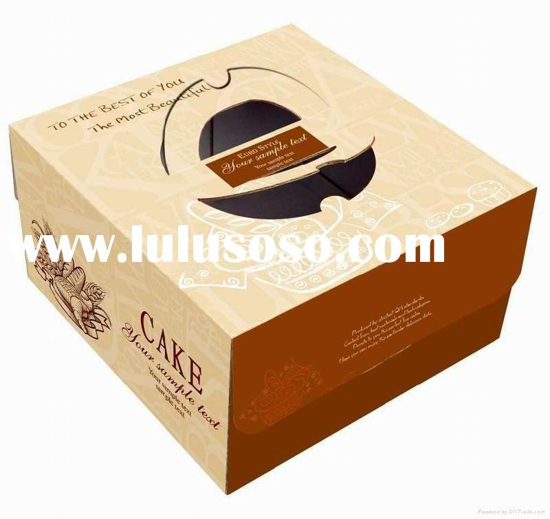 Delicate high quality cheap paper cake box