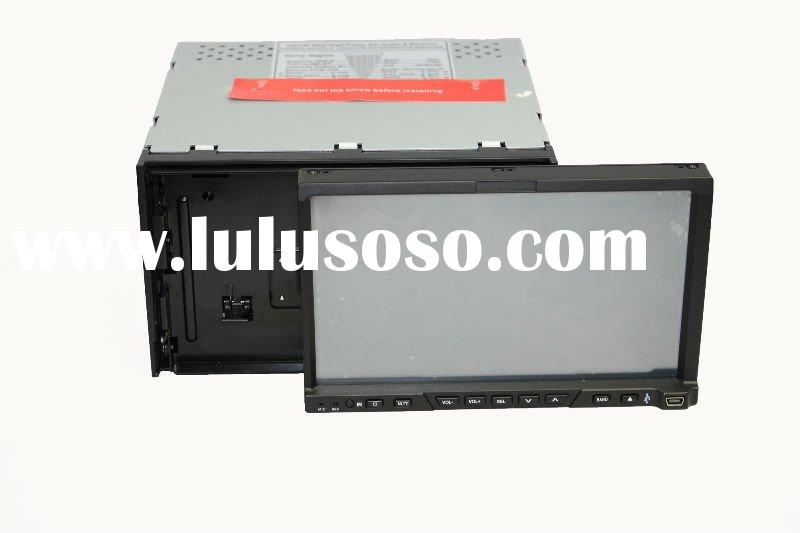 HOT Double Din Car DVD with 7'' touch screen, detachable panel, GPS, Bluetooth, TV,