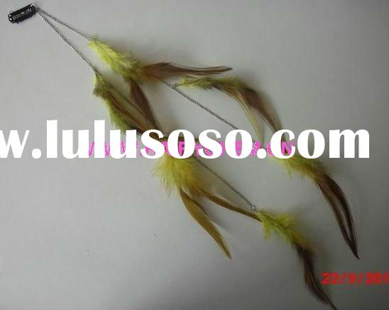 Hot sale!! new style fashion hair feathers extensions with clips wholesale ( HC-1014),Paypal
