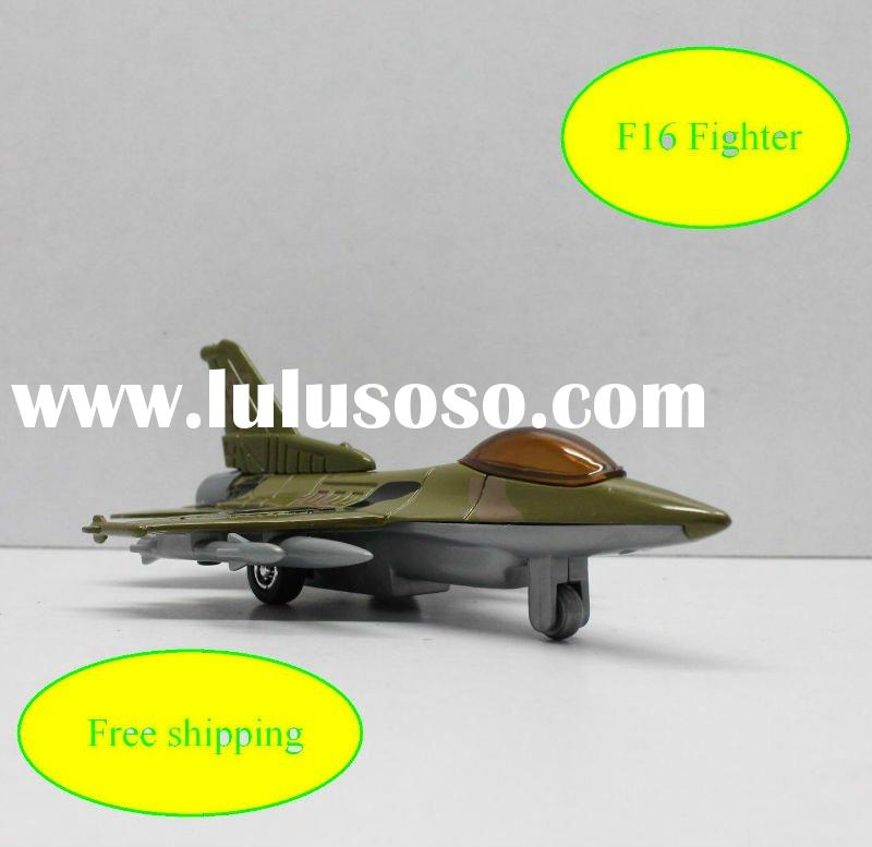 Mini die cast metal F16 fighter 1:130 plane model series mix color