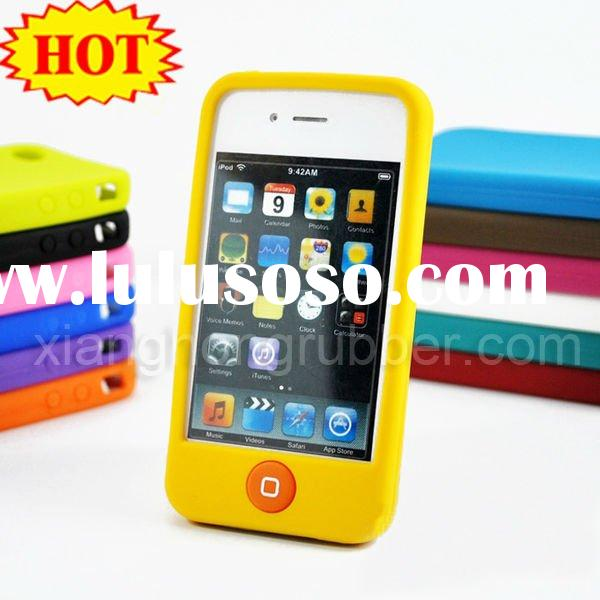 NO.1 hot sales cell phone silicone case for Iphone 4G