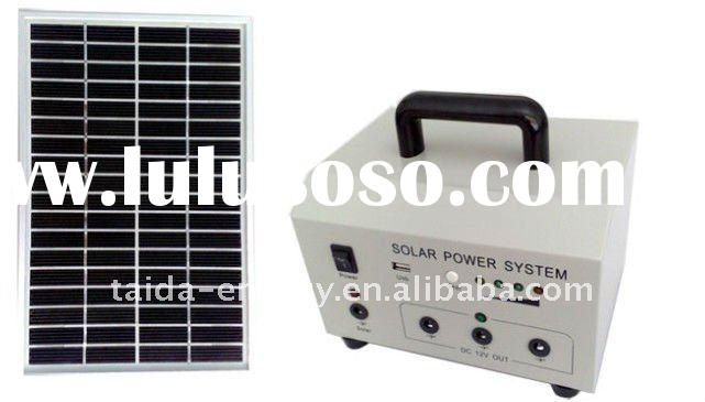 Small solar lighting system for home / 10w solar home system