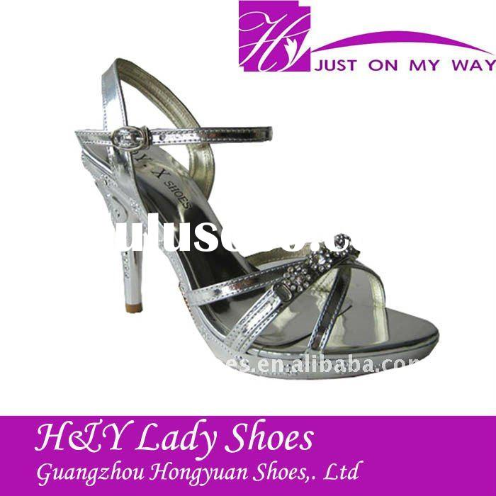 elegant lady diamond shoes