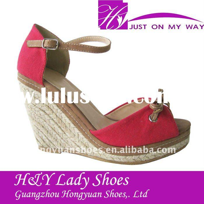fashion lady rope wedge shoes