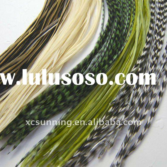 hot grizzly rooster feather extensions