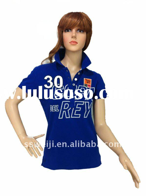 2011 cotton women polo tshirt